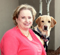 Marcie Davis and her assistance dog Whistle