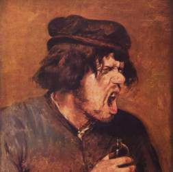 painting of angry man